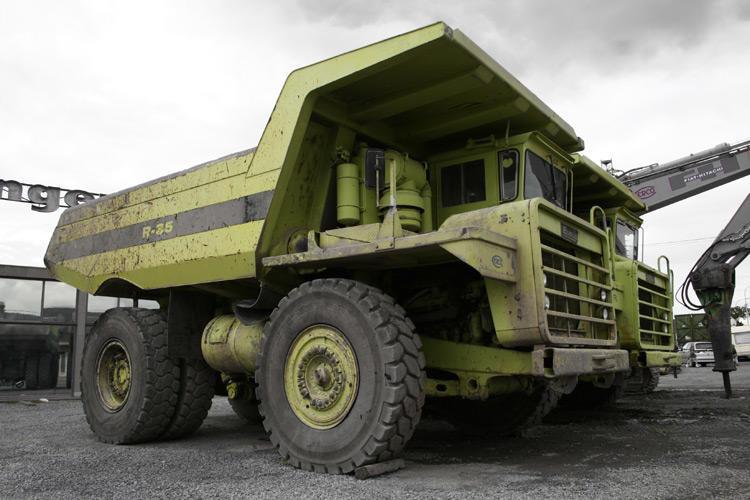 Fat green truck