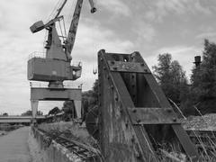 Crane on rails