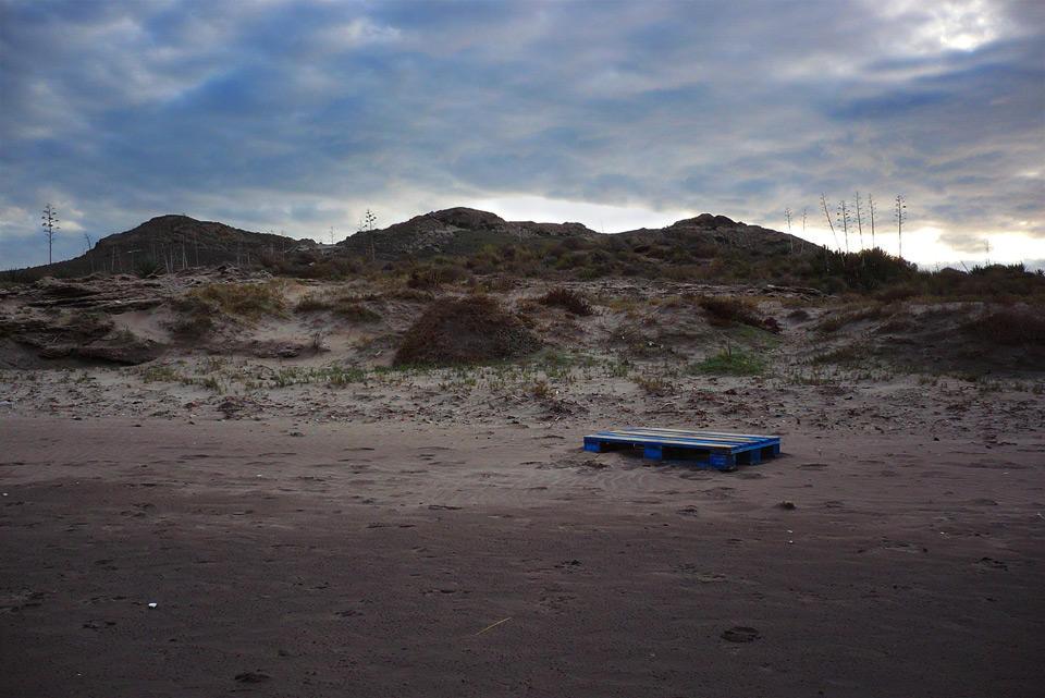 Palette sur la plage